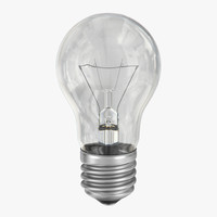 3d model incandescent light bulb