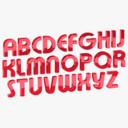 Font Alphabet Rigged