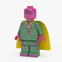 LEGO Marvel Super Heroes Vision Minifigure