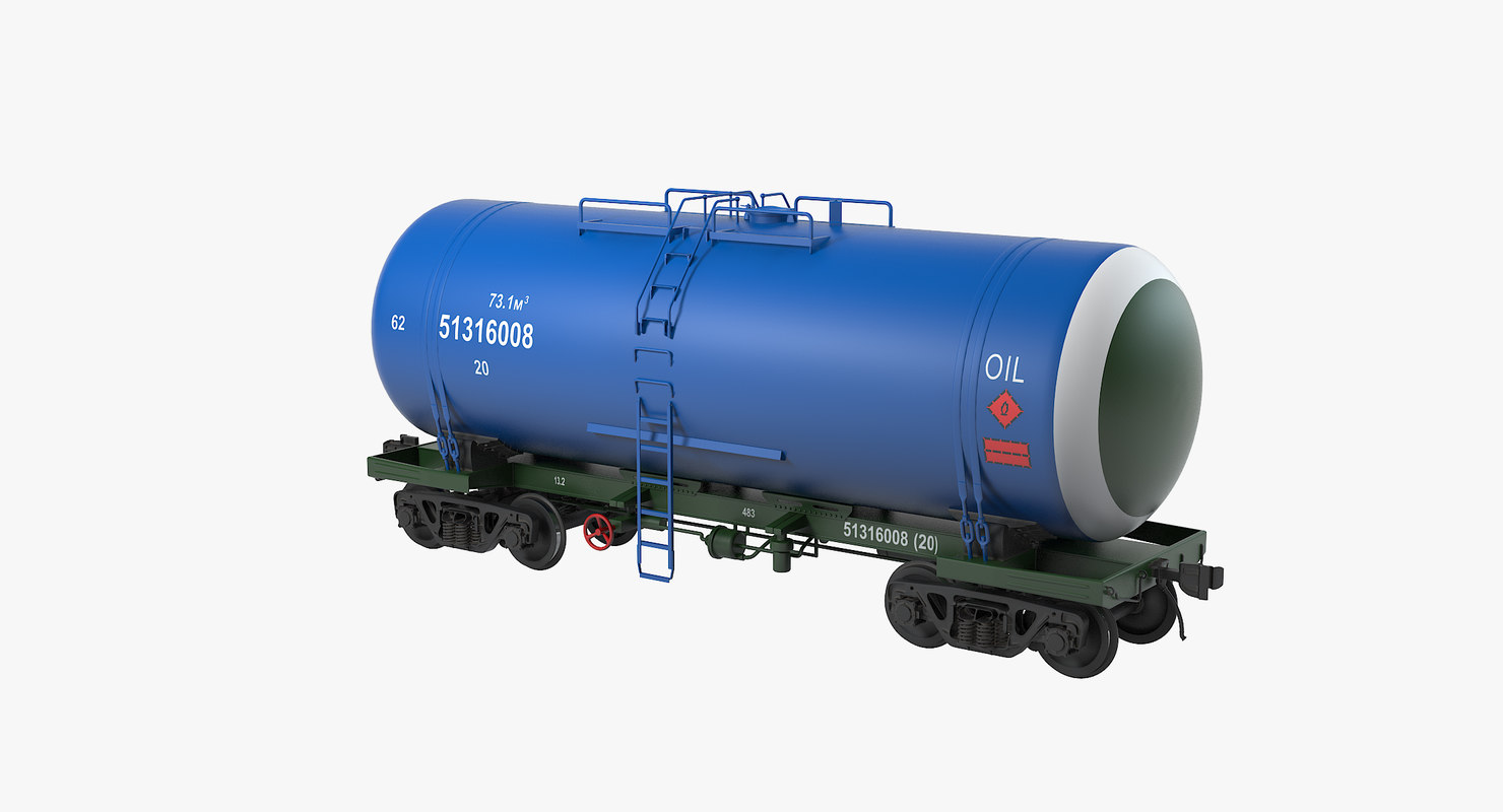 3d railroad oil tank