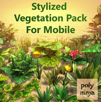 Stylized Vegetation Pack For Mobile