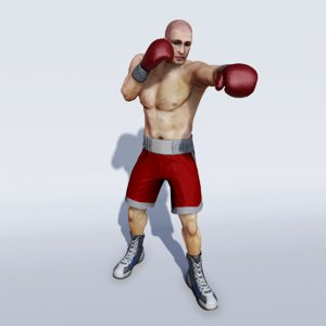 3d professional boxer model