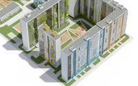 3d exterior scene cityscape model