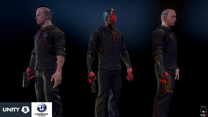 cyberpunk detective 3d model