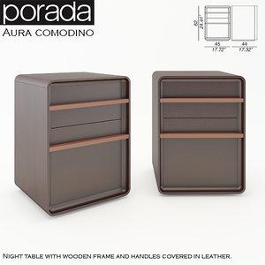 3d porada aura comodino model