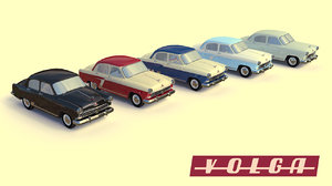ussr gaz-21 color 5 3d 3ds
