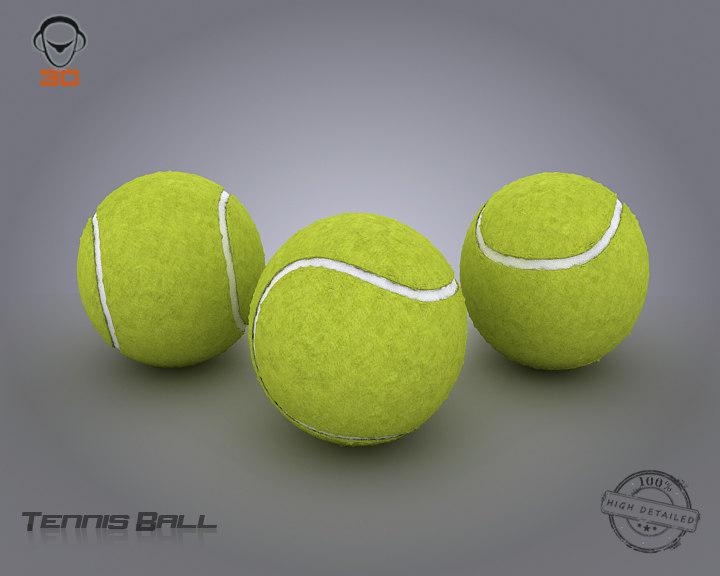 3d tennis ball model
