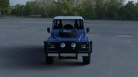 land rover defender 90 3d obj