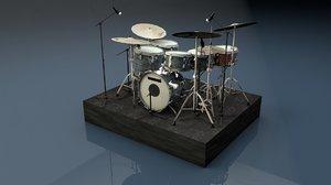 drum kit 3d c4d