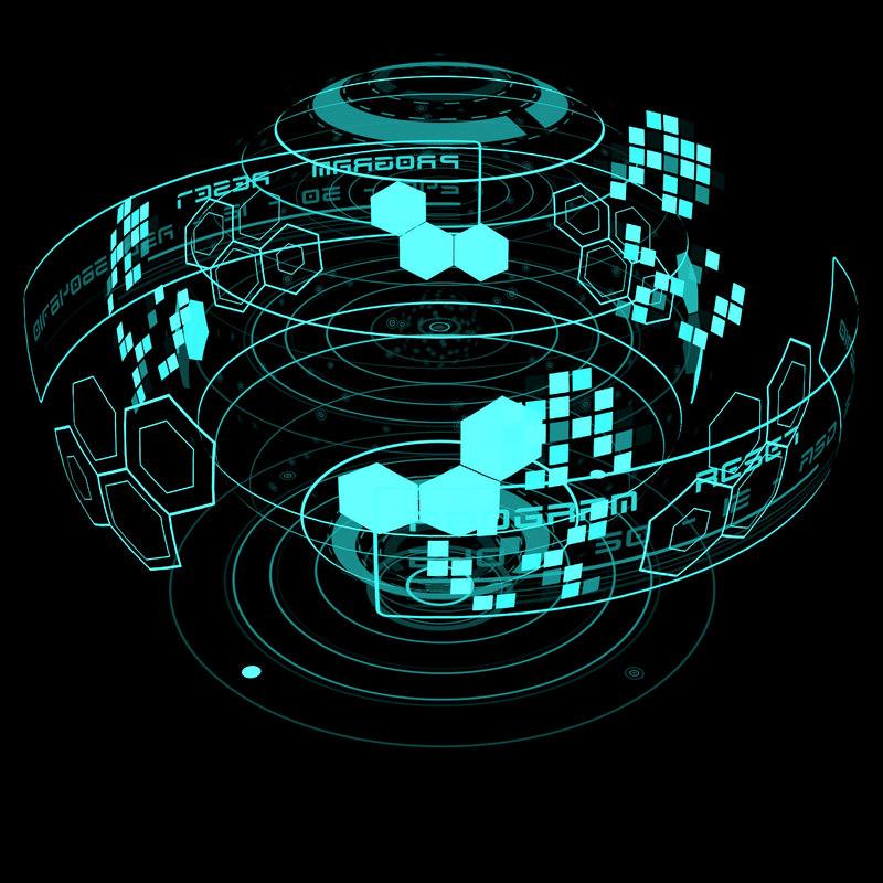 3d hologram planet model