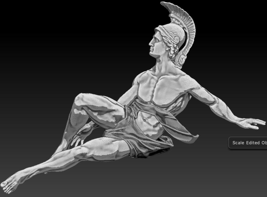 statue rome man 3d model
