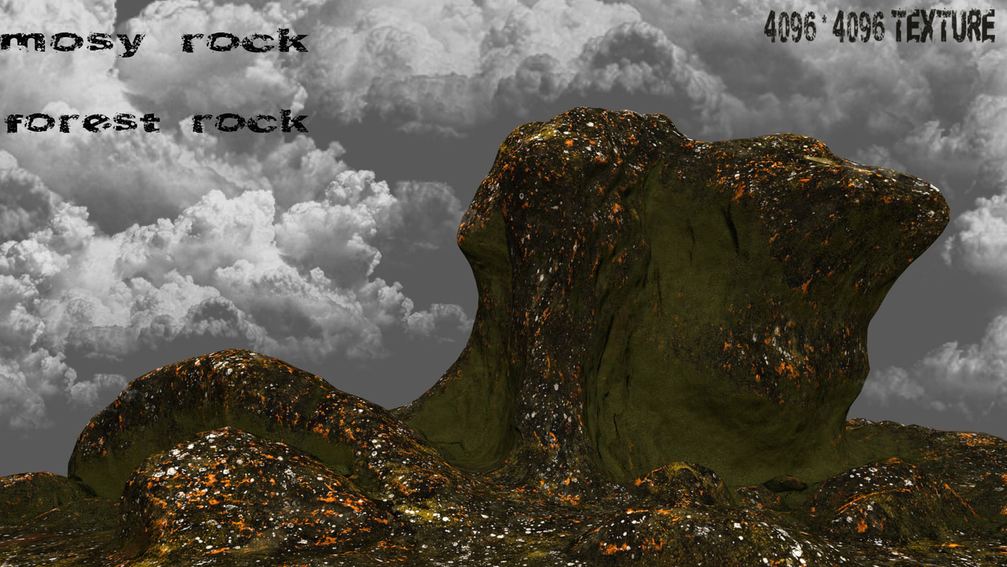 3d mountain rock
