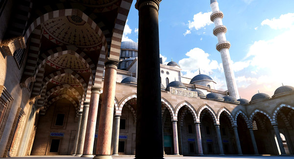 suleymaniye mosque 3d model