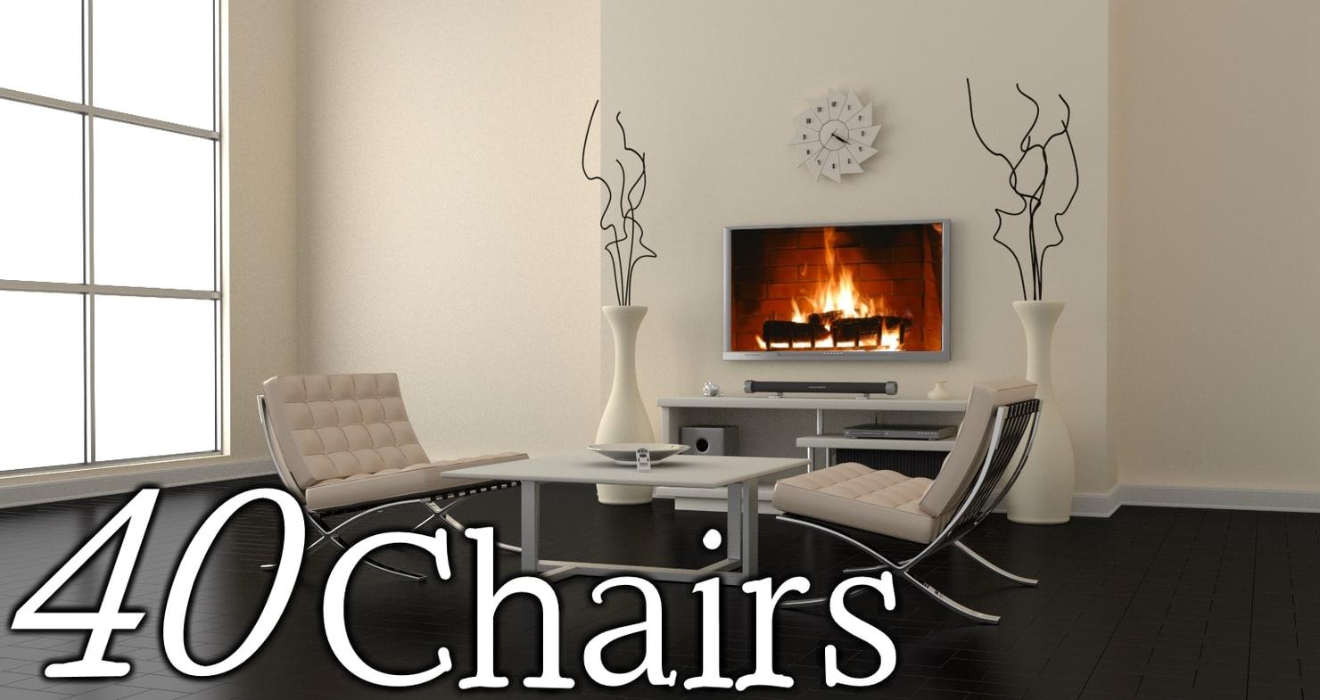 3d max 40 chair