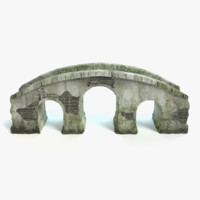 old arched stone bridge 3d model