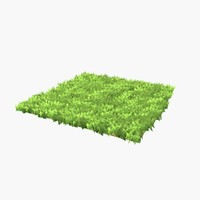 Grass trimmed Lowpoly Game Ready