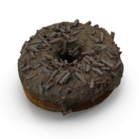3d model chocolate doughnut