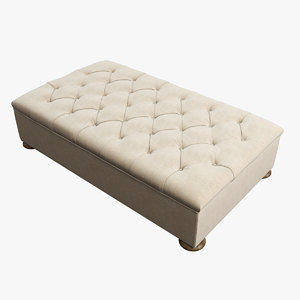 restoration hardware churchill upholstered 3d model