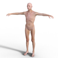 3d model realistic rigged old man
