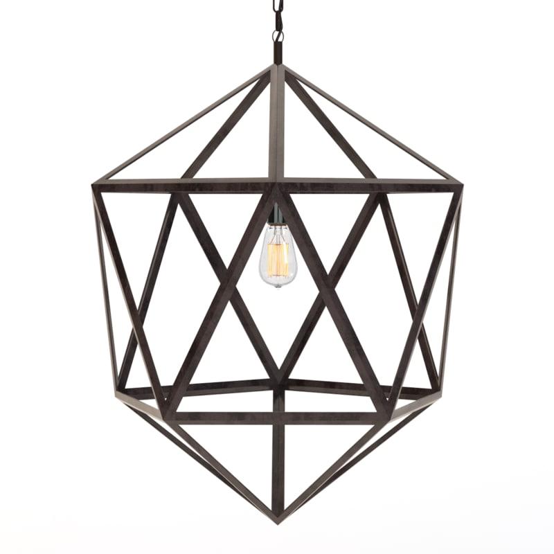 steel polyhedron pendant 3d 3ds