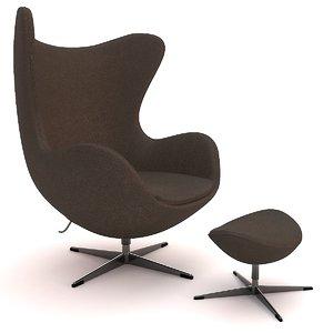 realistic egg chair 3d max