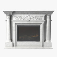 3d glivi fireplace model