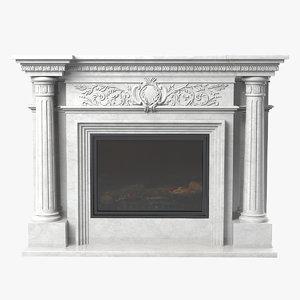 3d glivi fireplace model