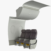 A380 Cabin Wall with Front Seats
