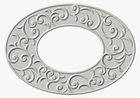 Oval frame floral swirl ornament (1)