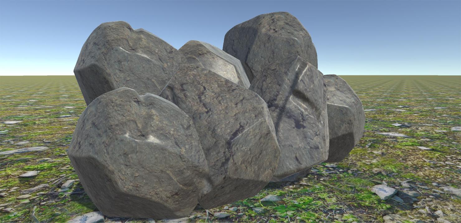 3d model nature rock stone
