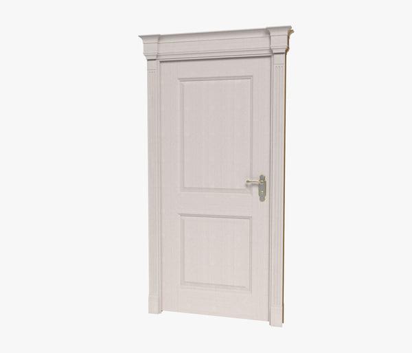 realistic door 3d model