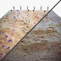 climbing wall 3d model