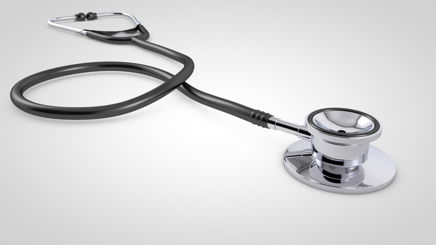 3d stethoscope model