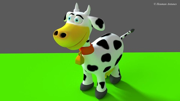 3d model vaquinha cow