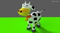 3d model vaquinha cow