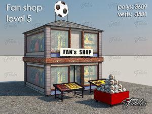 fan shop level 5 obj