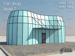 3d model fan shop level 7