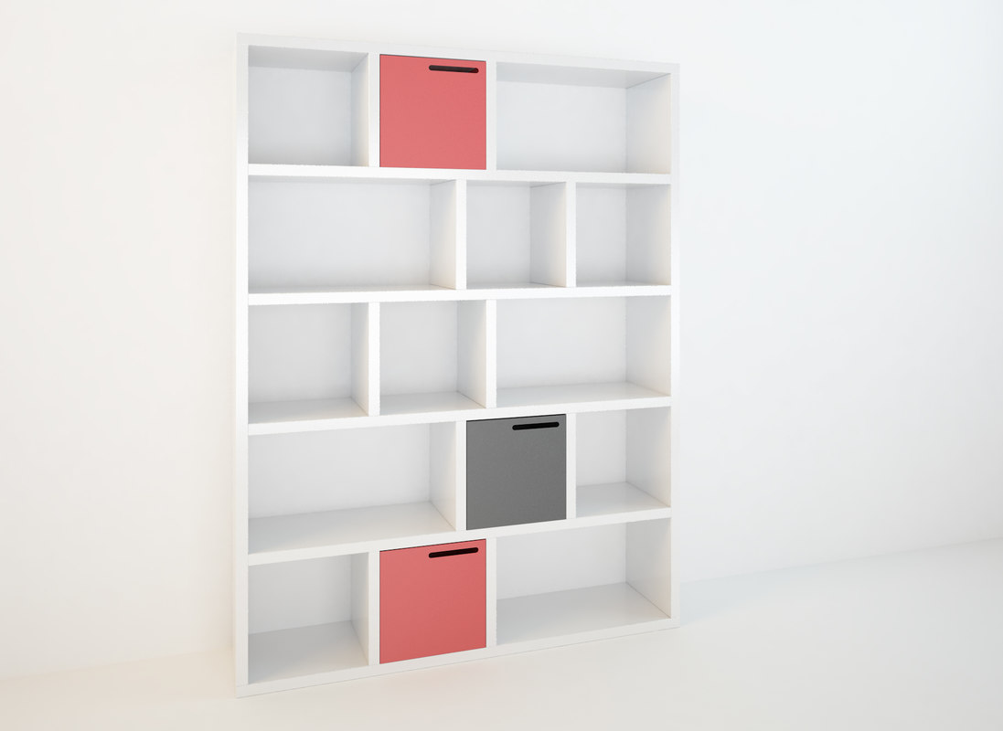 max bookshelf modeled