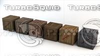 low-poly secret wooden crates 3d obj