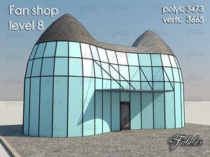 fan shop level 8 3d model