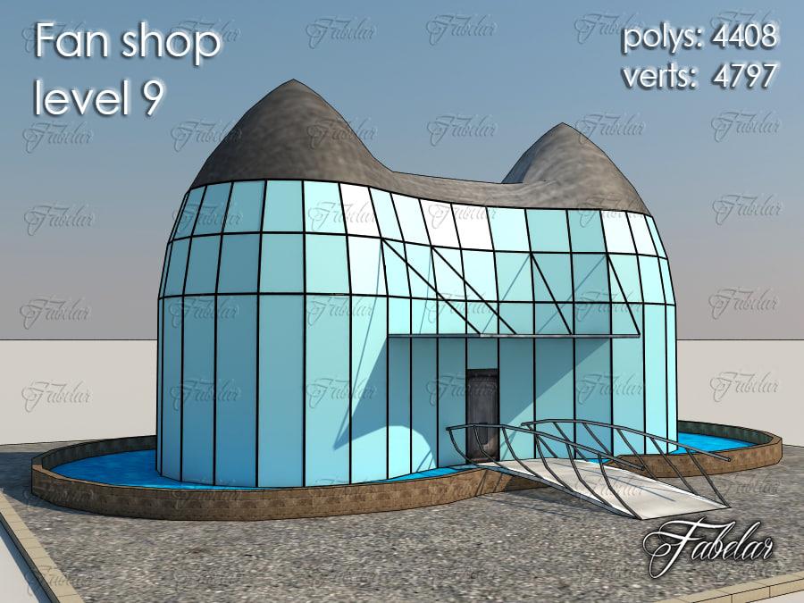 3d model fan shop level 9
