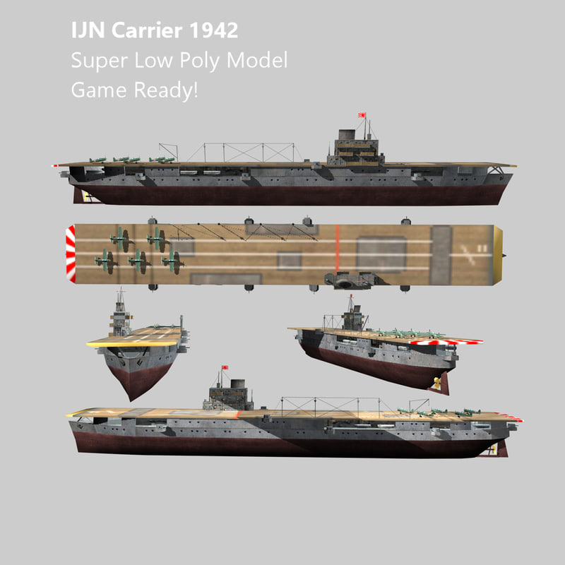 3d model carrier ijn ww2 aircraft
