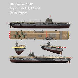 3d model carrier ijn ww2 aircraft