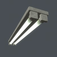 fluorescent lamp ceiling 3d obj