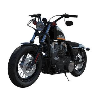 3d model harley-davidson motorcyle