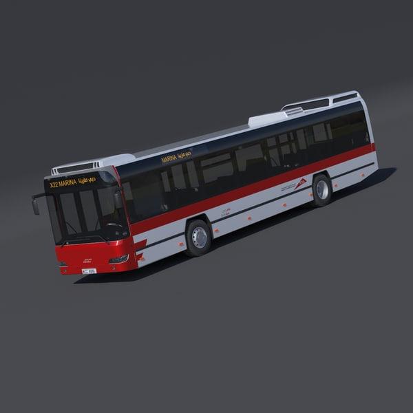 3d model of dubai city bus