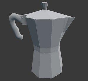 free coffee maker moka 3d model