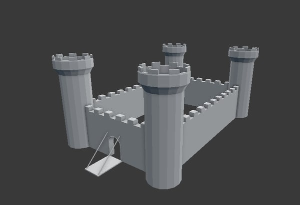 free obj model castle
