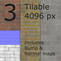 Brick textures with bump and normals