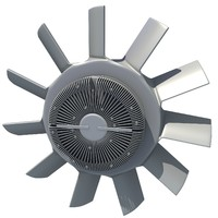 3d engine cooling fan modeled model